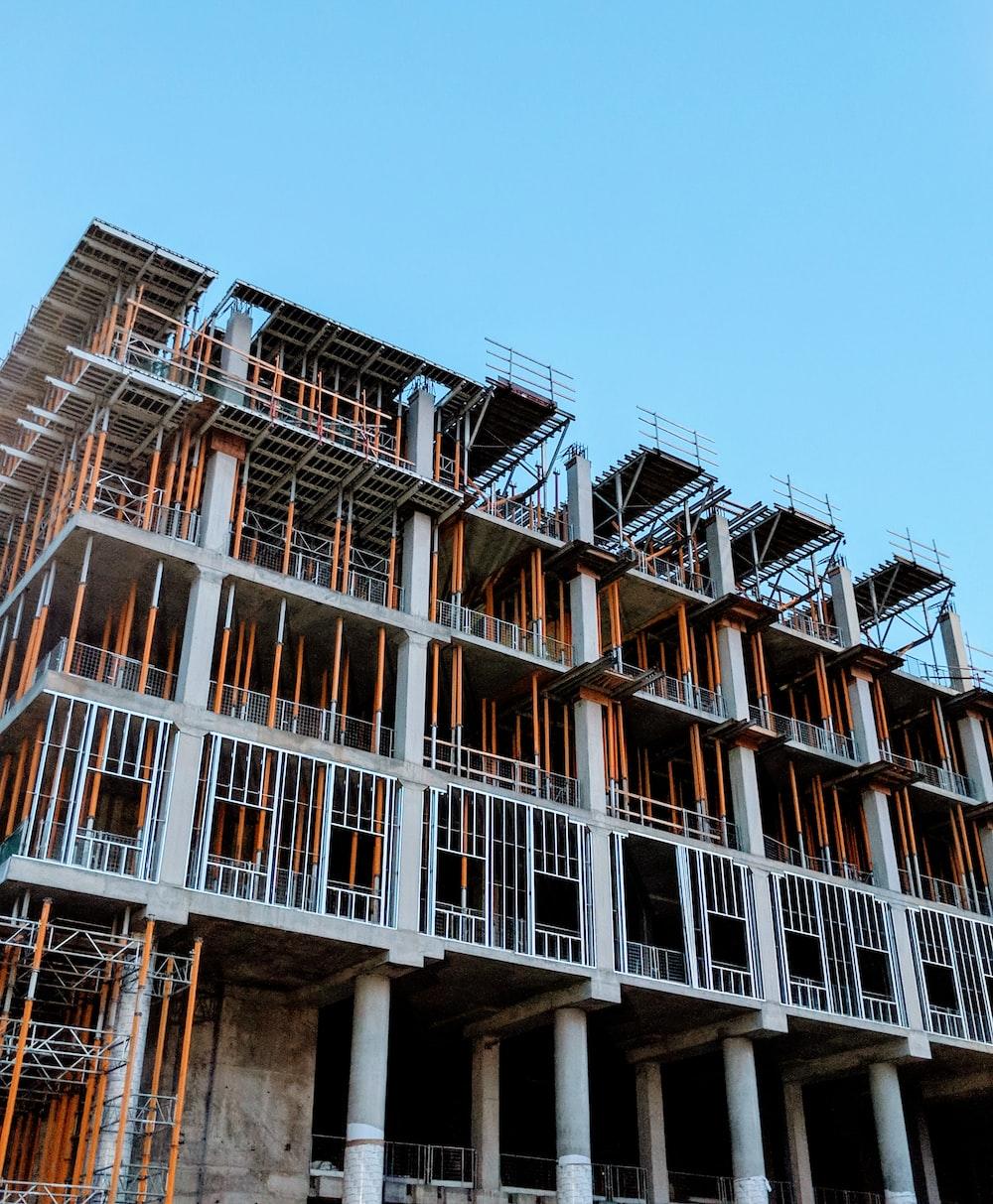 gray concrete building under construction