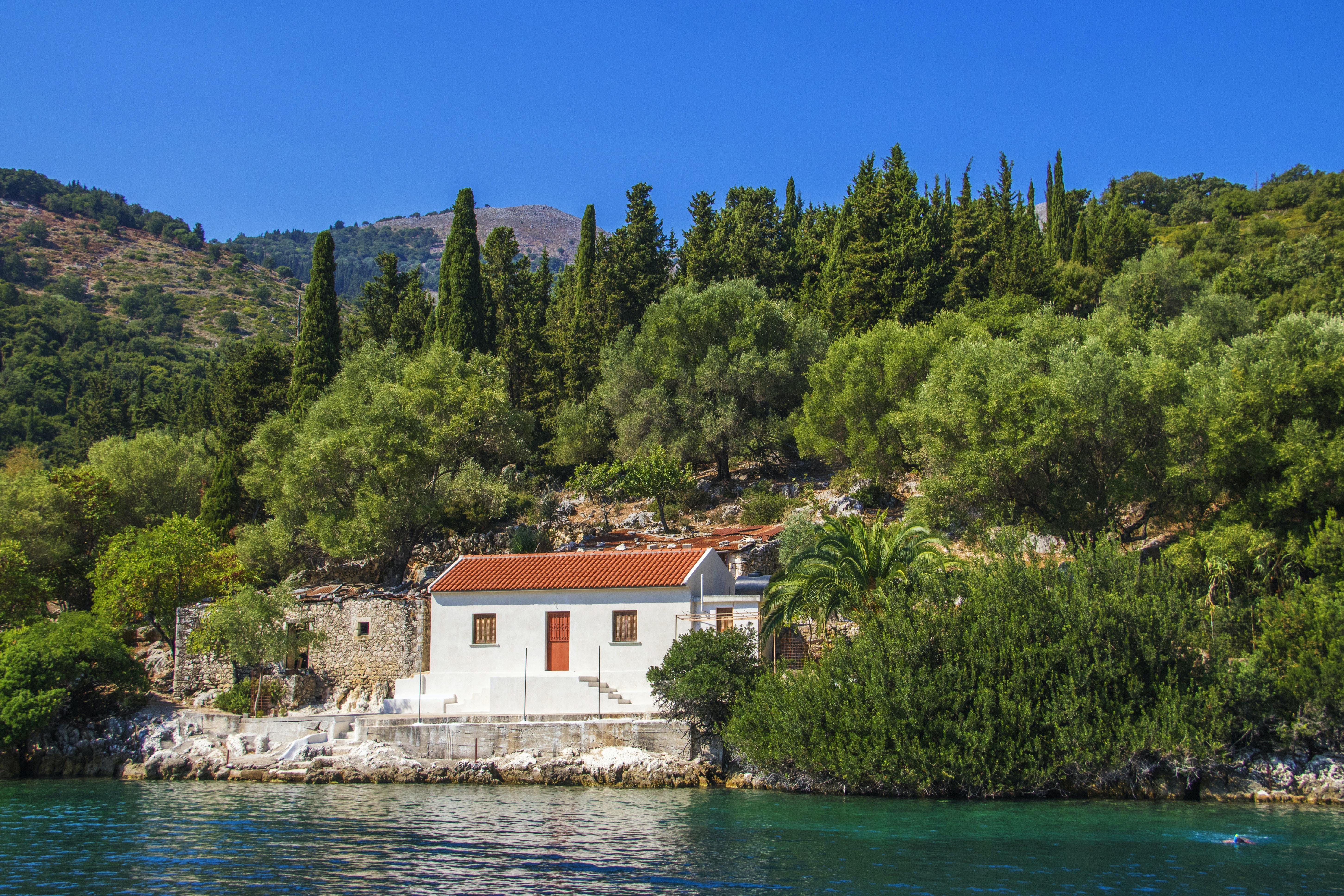 house beside near of water