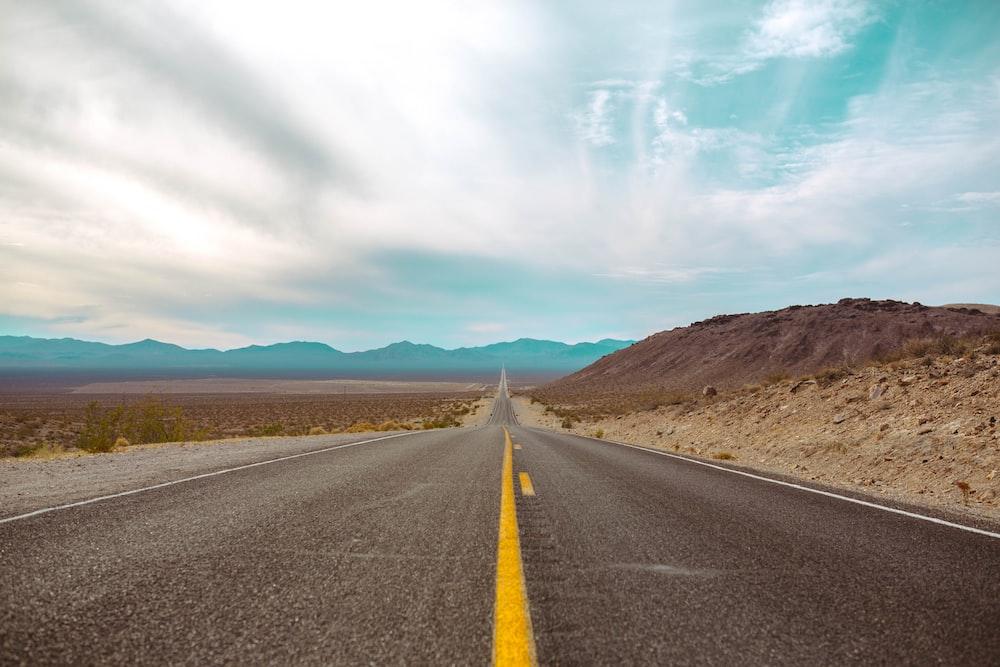 landscape of asphalt road