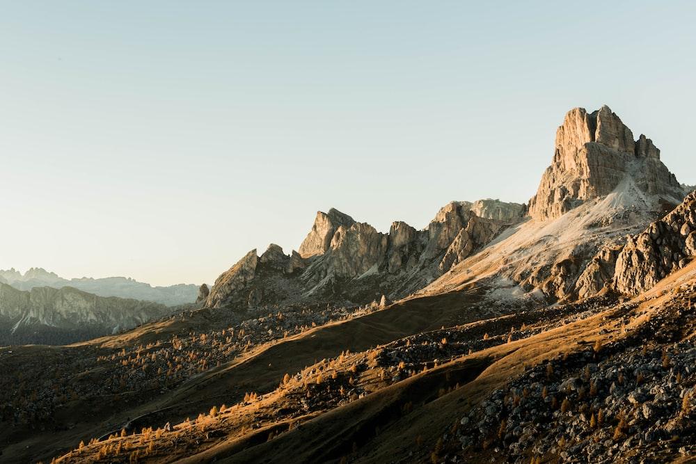 brown rocky mountain