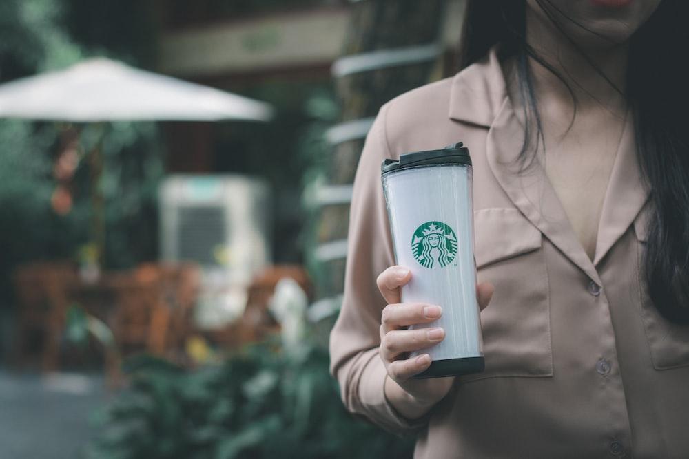 branding-woman-holding-Starbucks-tumbler
