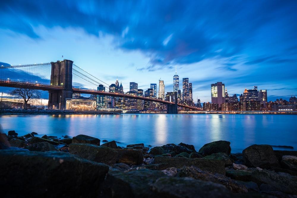photography of full-suspension bridge during daytime