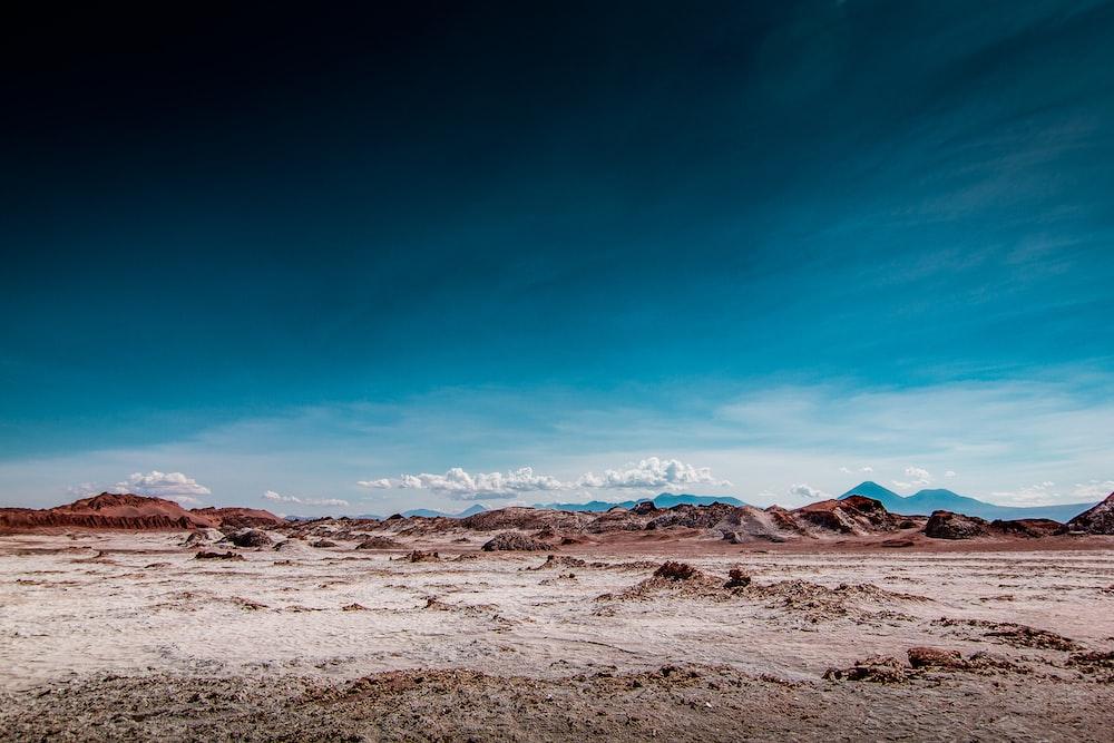 desert dune with blue sky