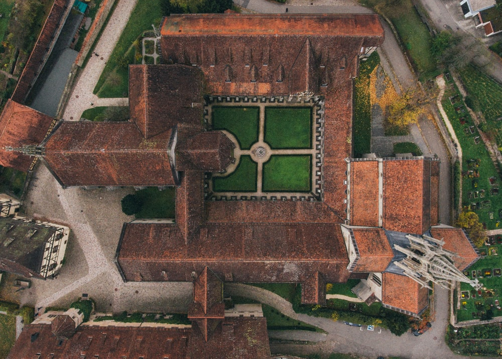 aerial photo of castle during daytime