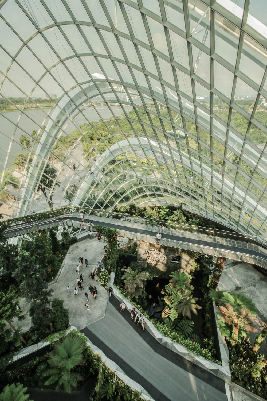 bird's eye view photography of building interior