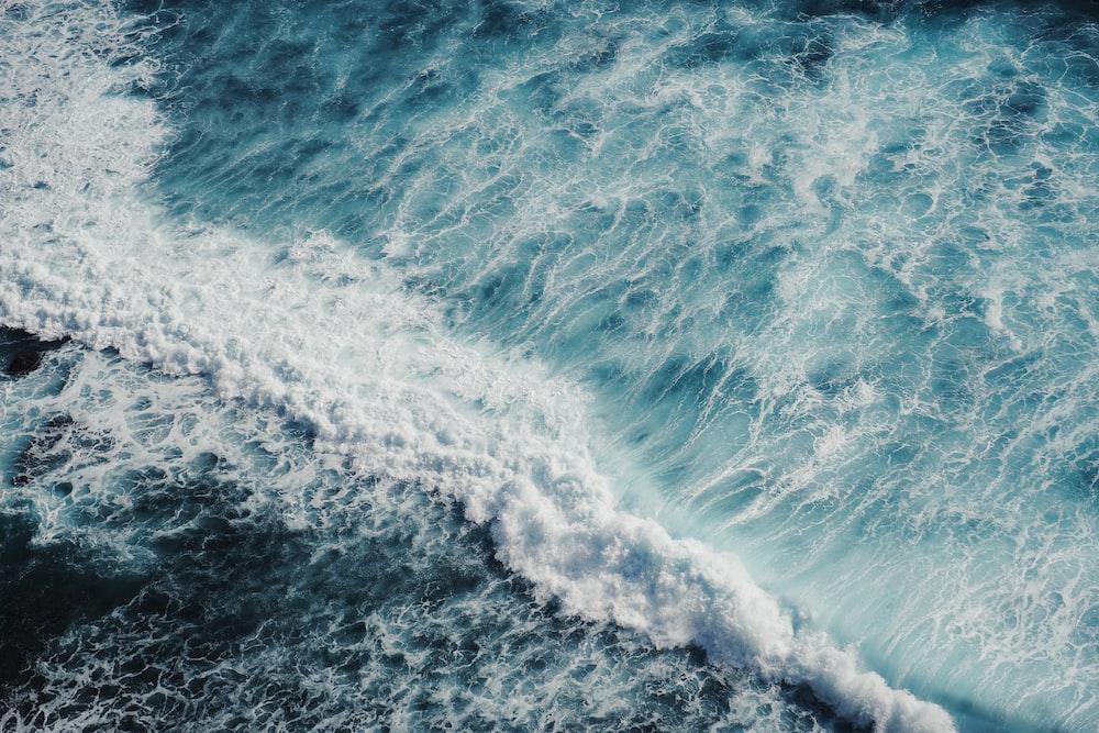 bird's-eye view of sea waves