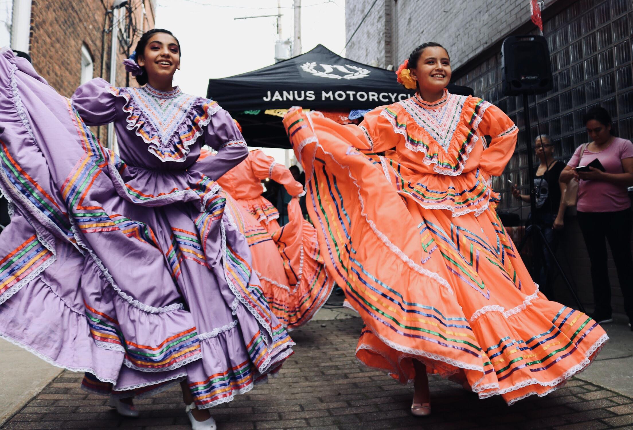 women in street dancing
