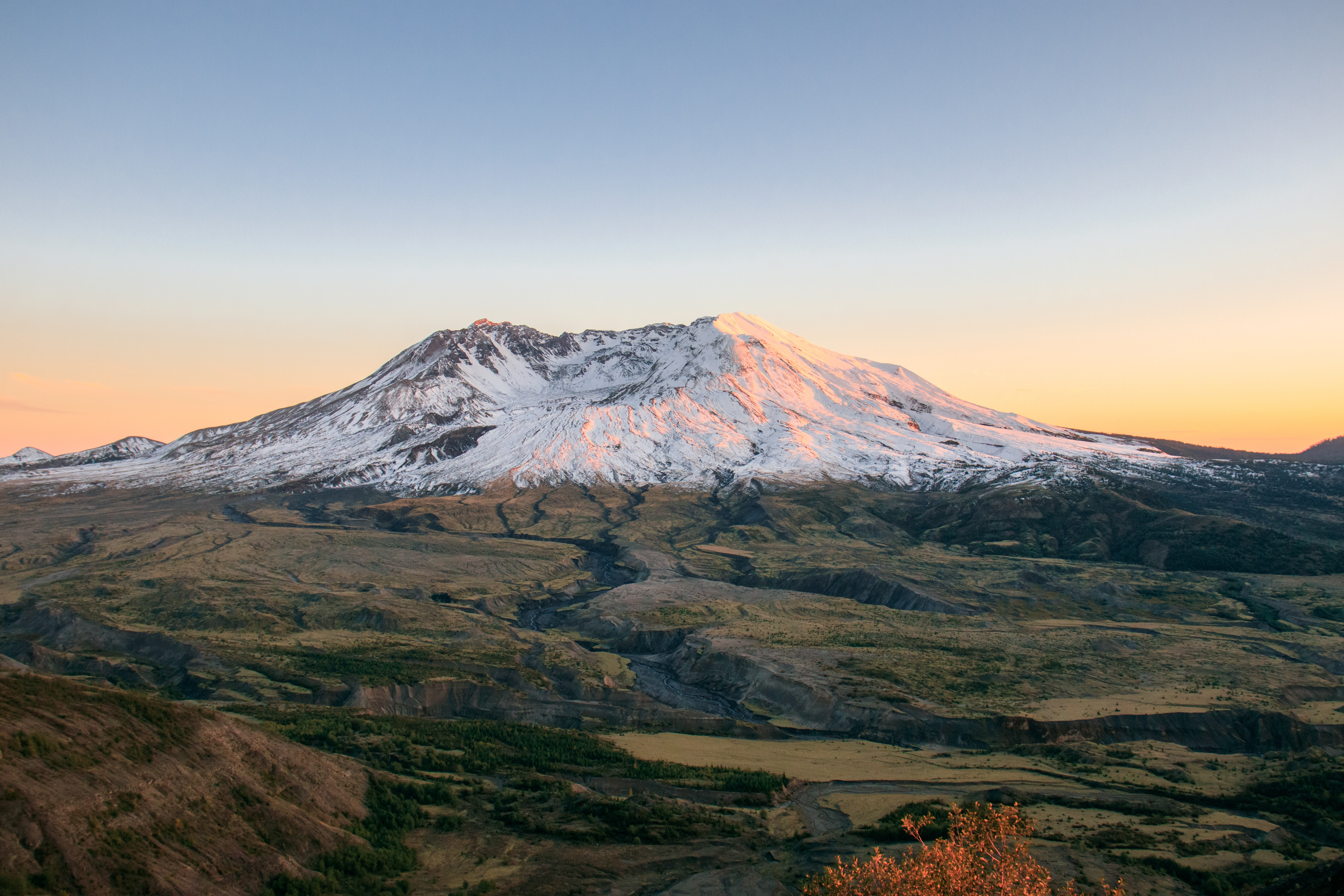 landscape photography of snow mountain during golden hour