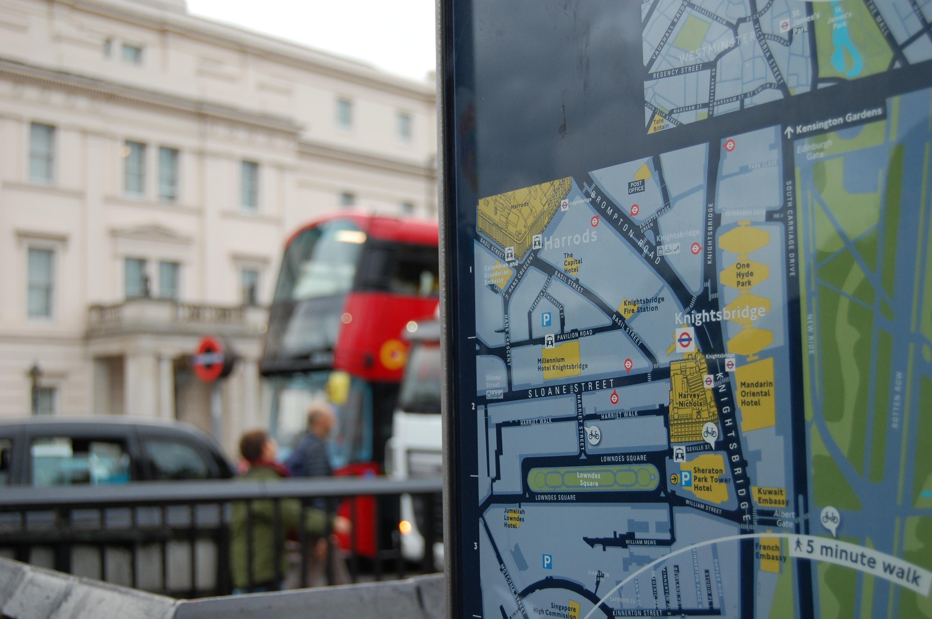 photo of monitor displaying digital map