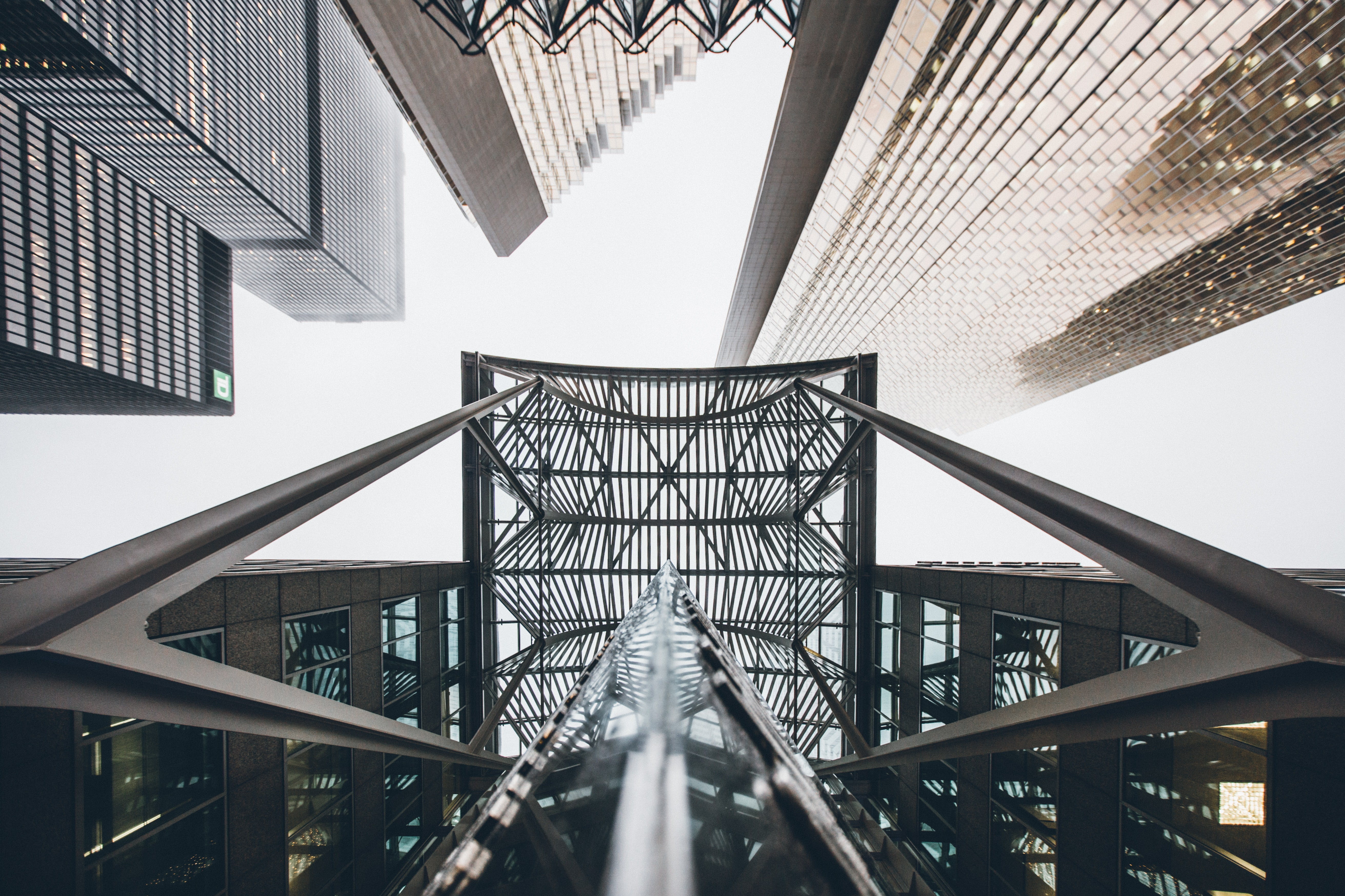 low-angle photography of tall buildings