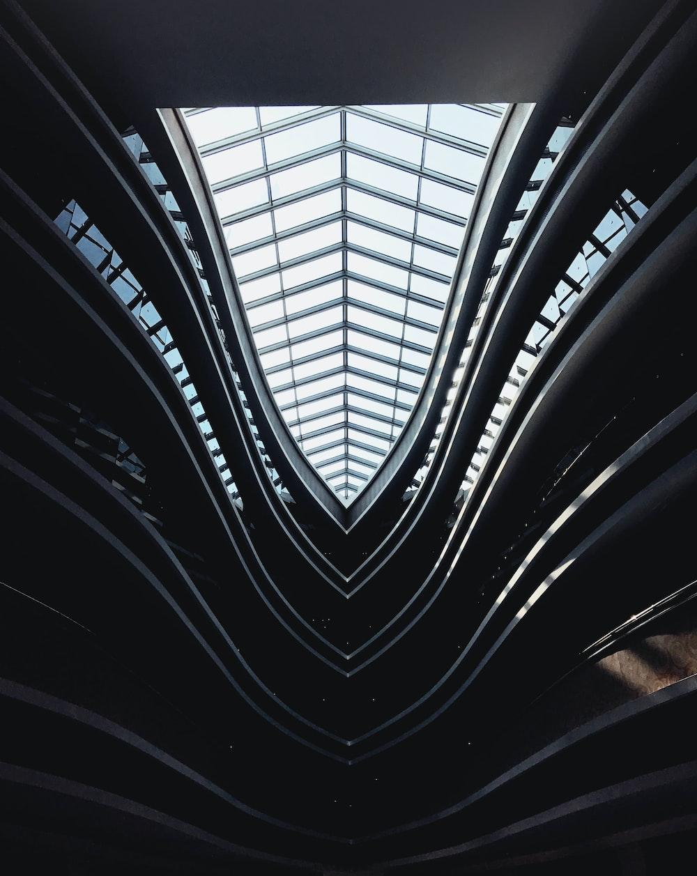 ceiling window design during daytime