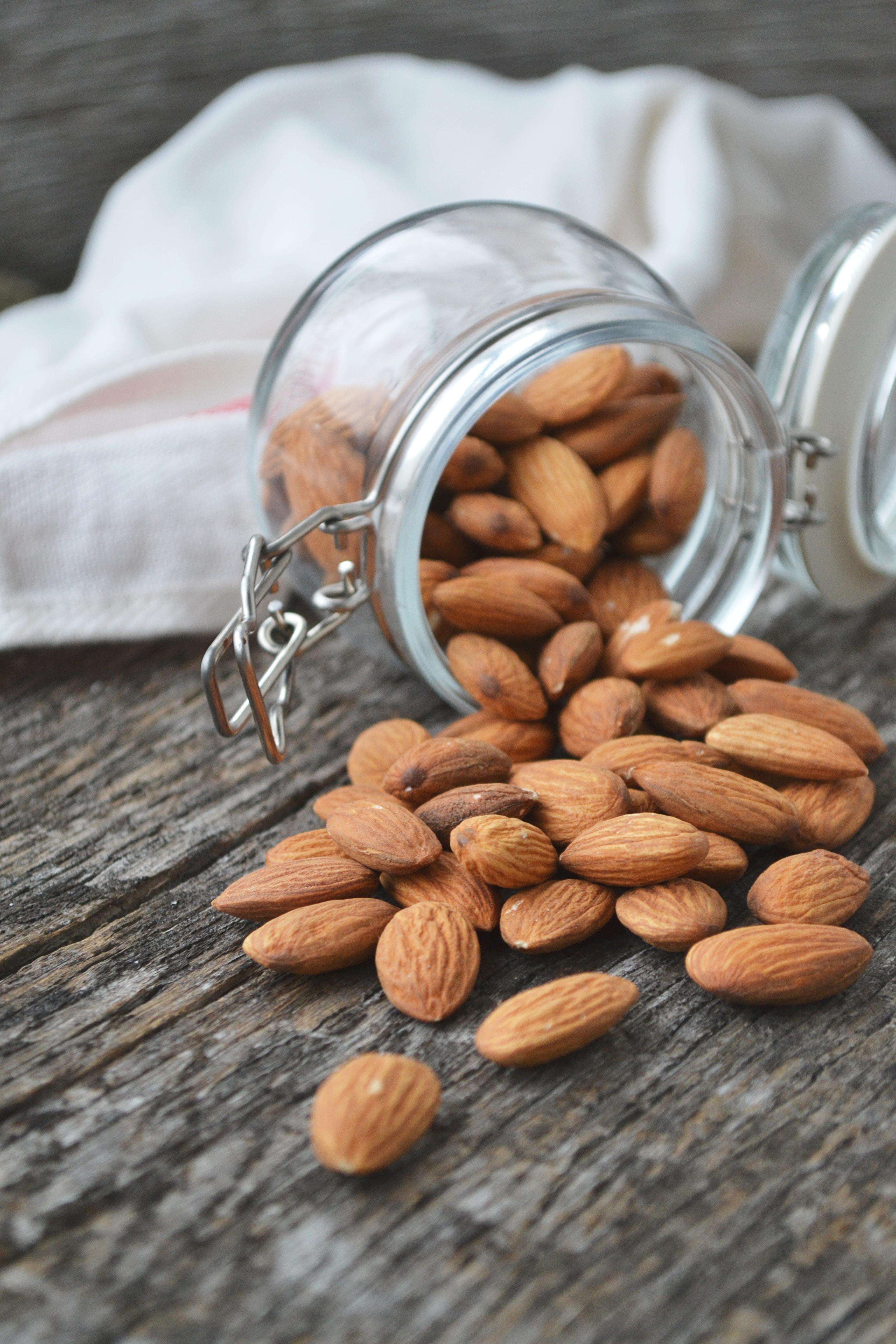 close up photo of Almonds