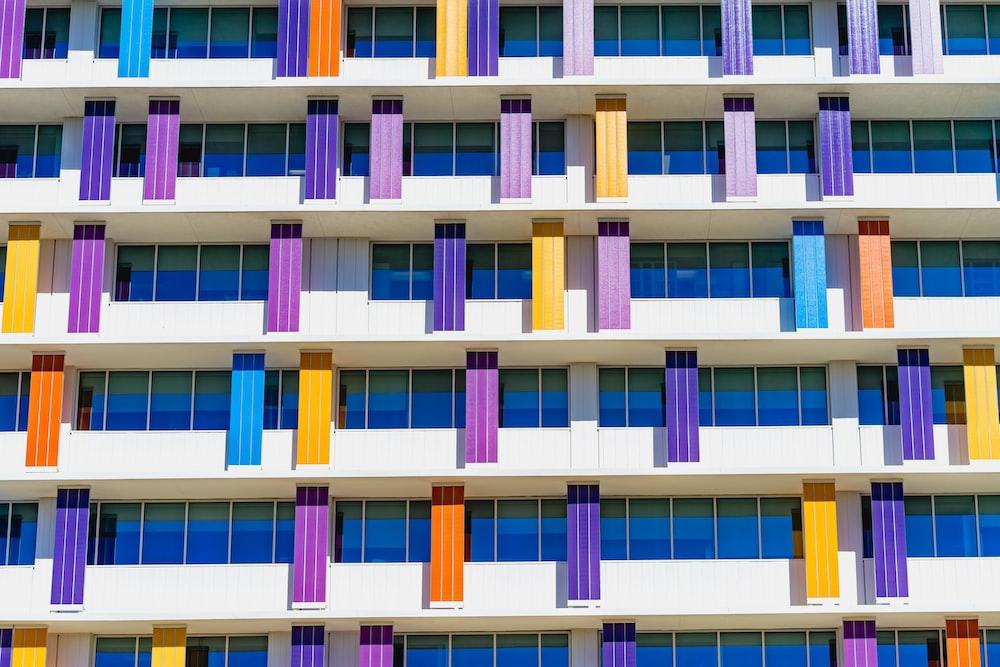 white and multicolored building