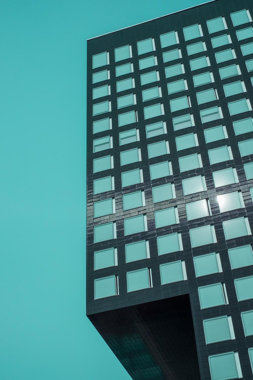black concrete structure