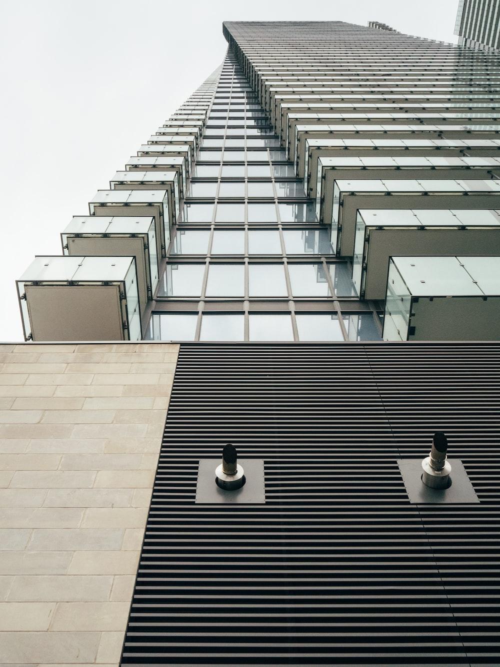 worm's-eye view of skyscraper