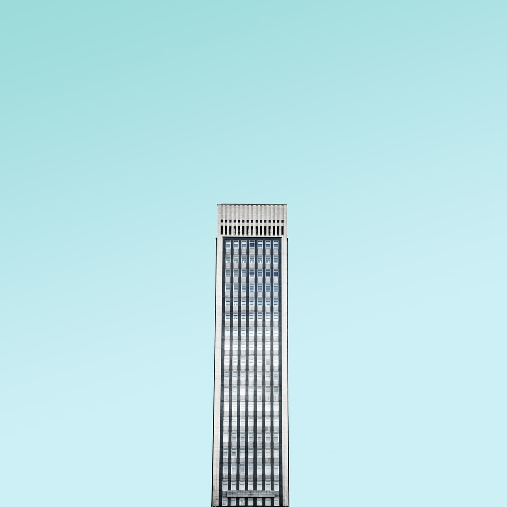 white skyscraper building