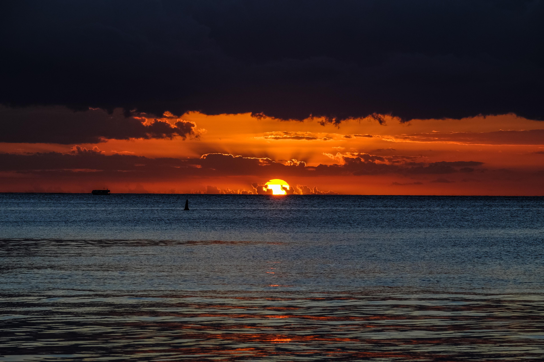 sunset scenery photography