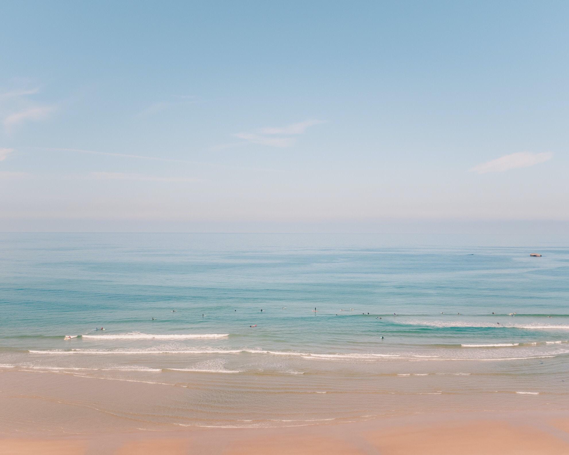 photograph of beach