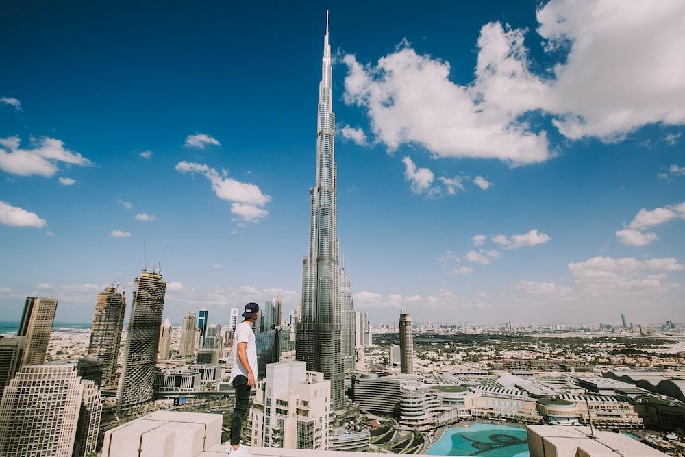 Burj Khalifa Climbing Skyline And Dubai Burj Khalifa Hd Photo By