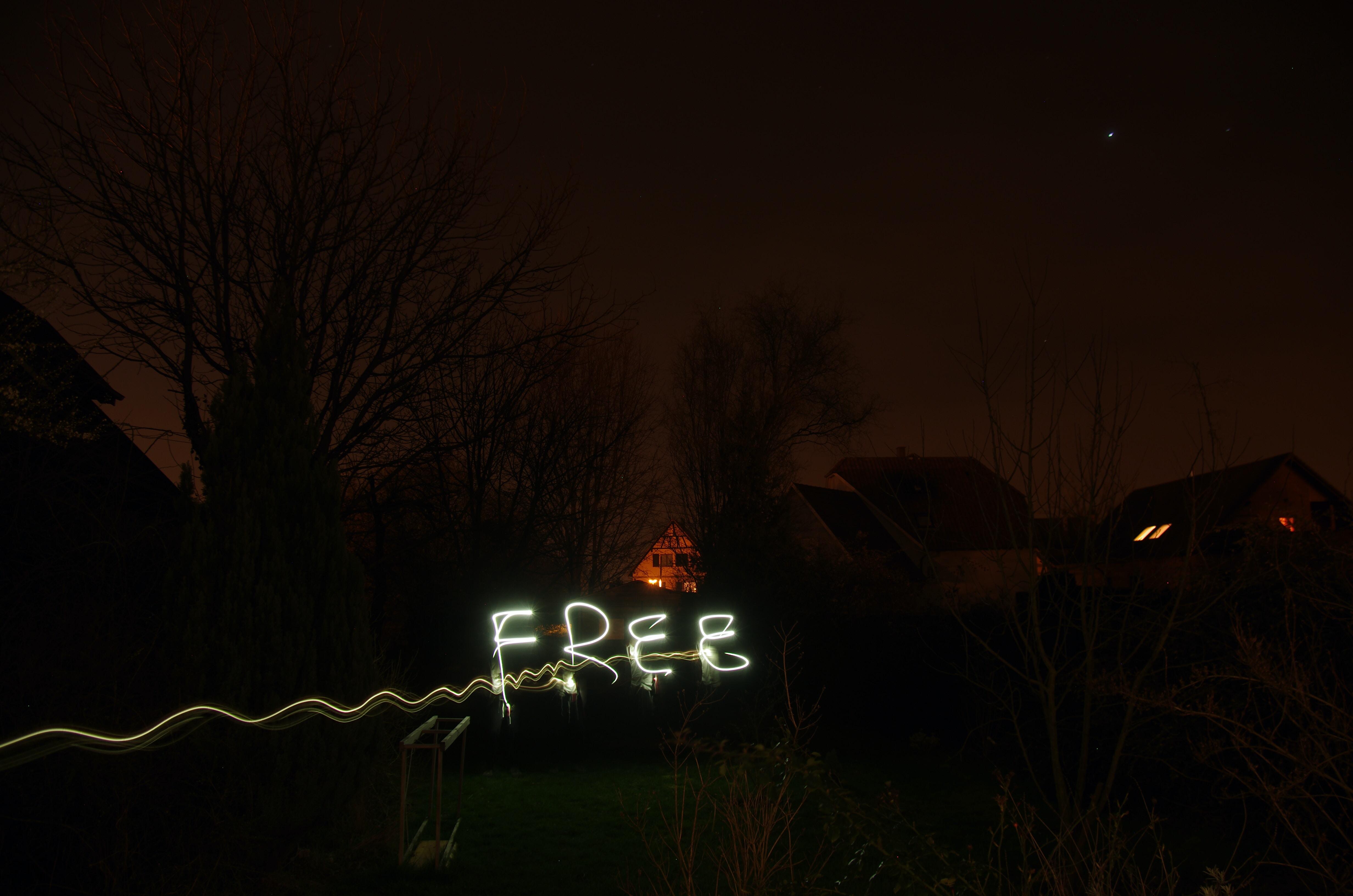 Free neon signage