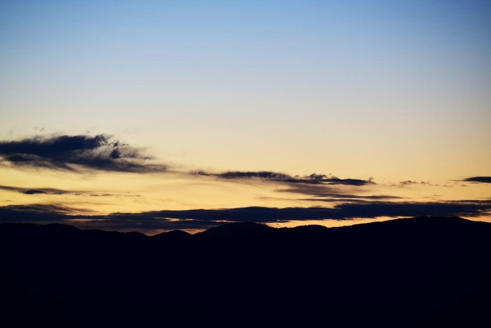 golden hour photo of sky