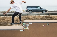 man playing skateboard