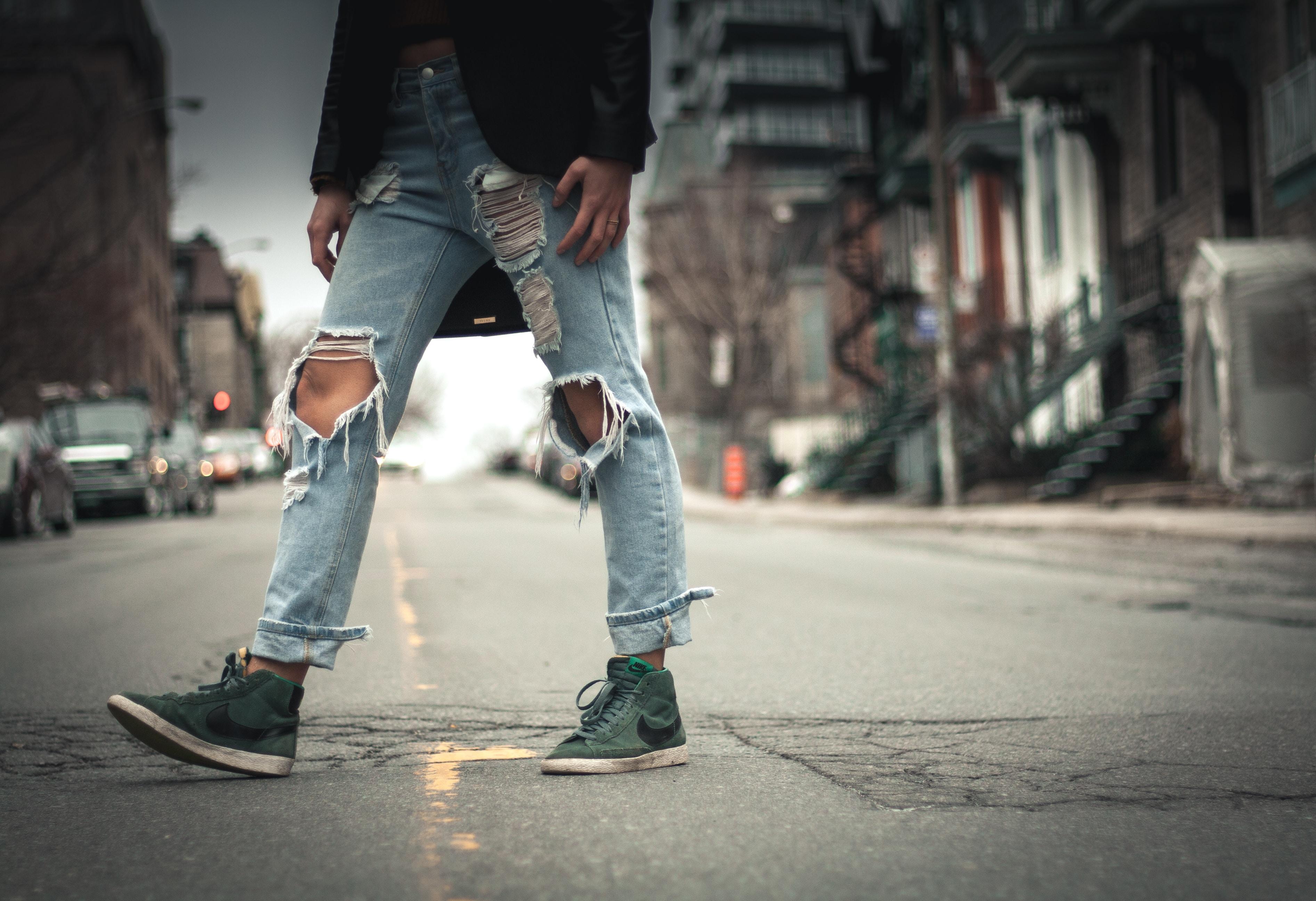 person crossing street