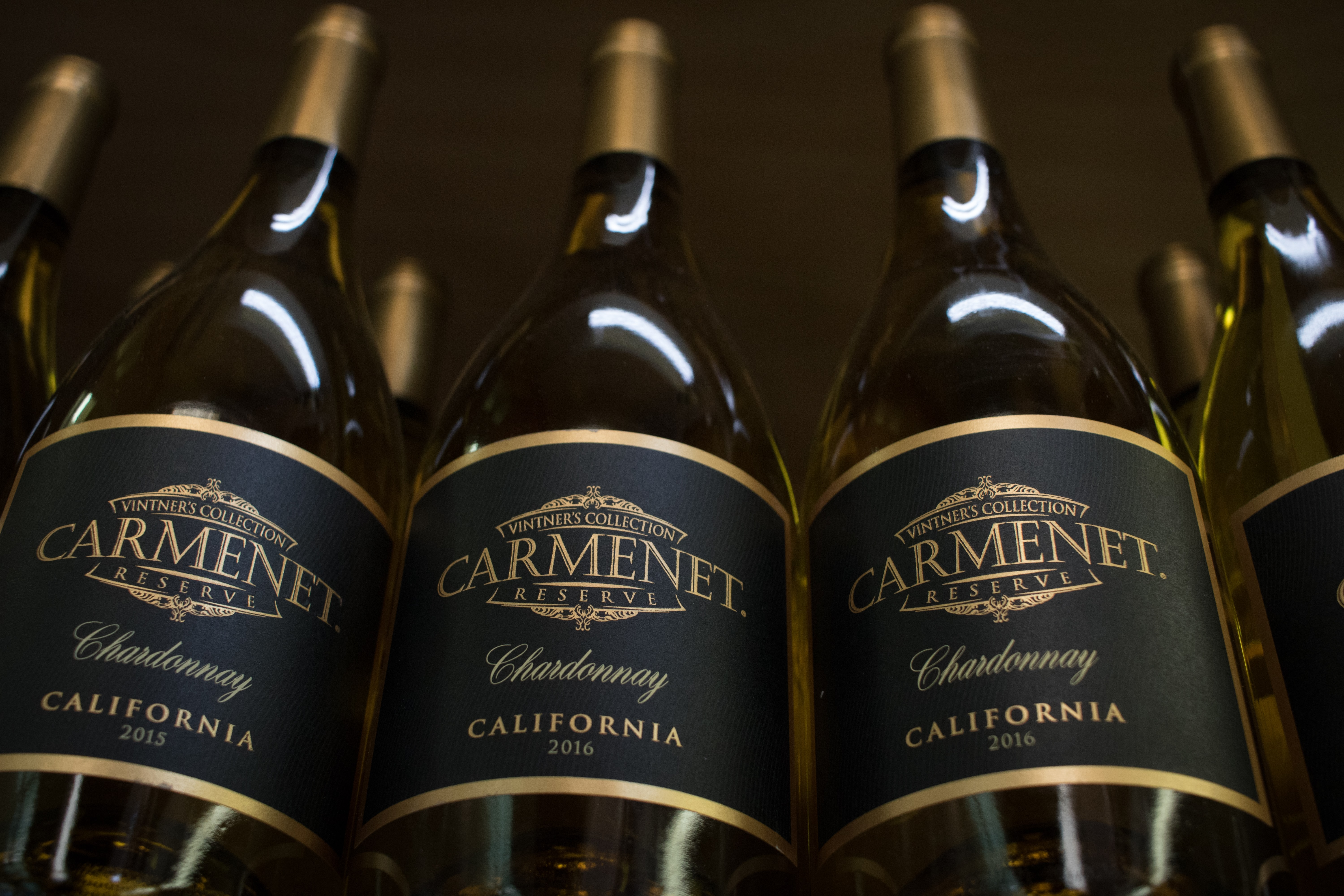 three Carmenet California bottles