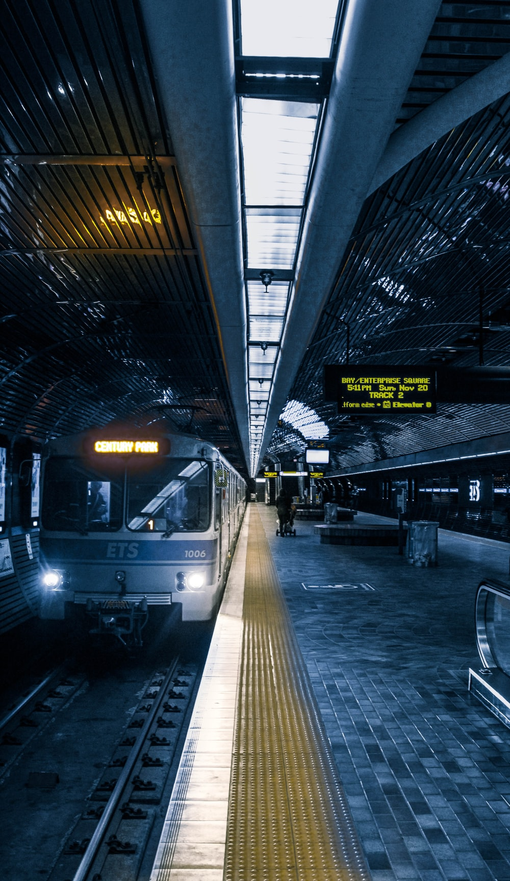ETS train in station