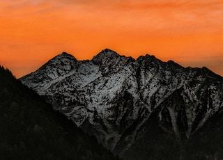 mountain summit during sunset