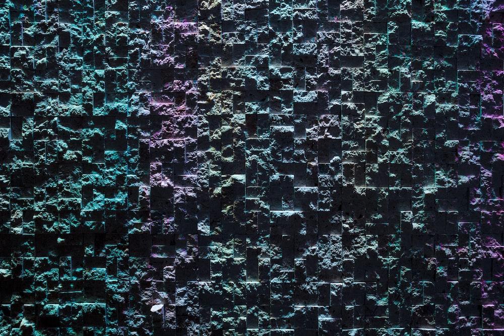 multicolored concrete wall