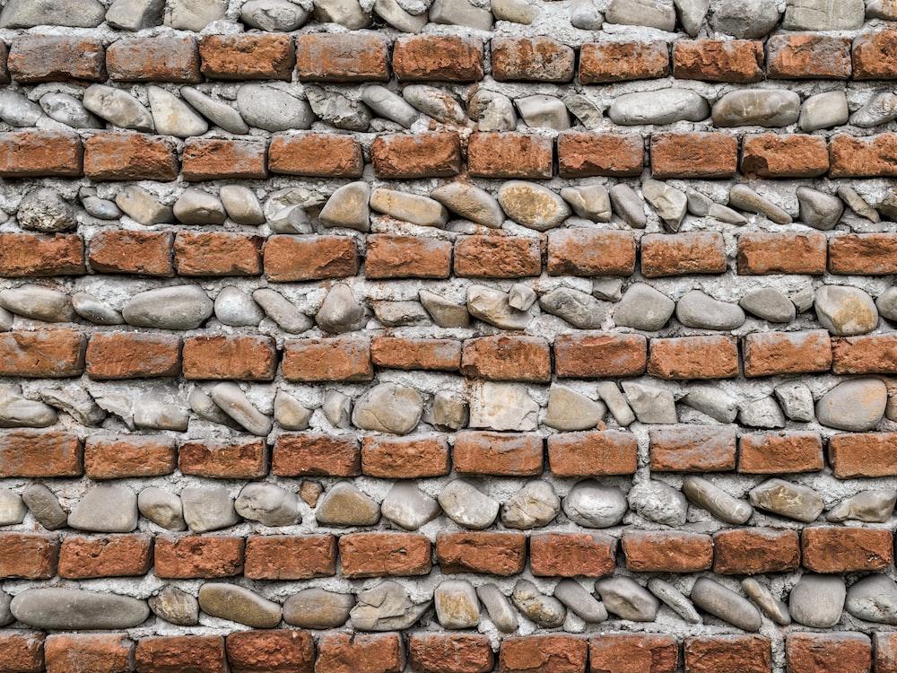brown bricks wall