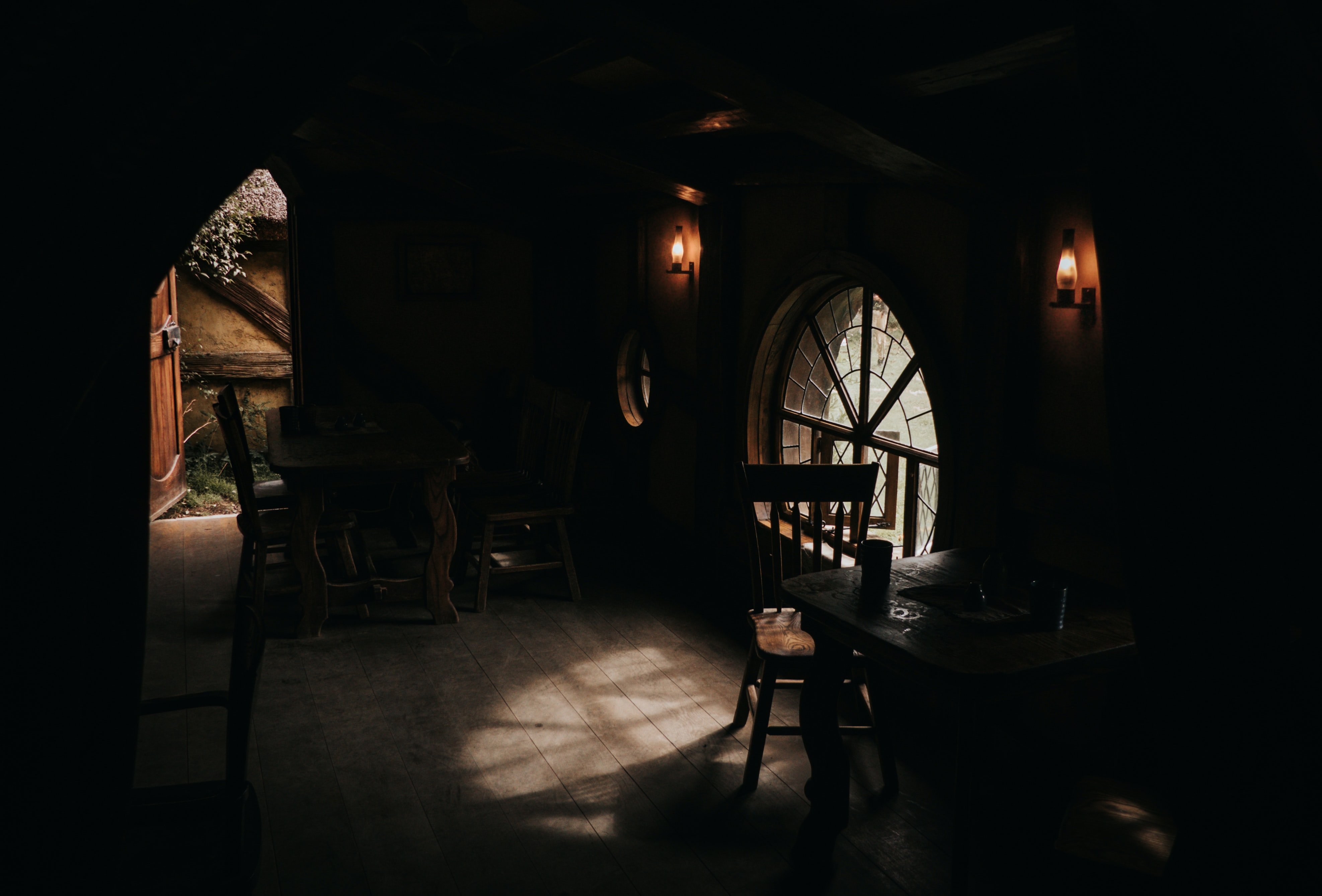 photography of dimmed house