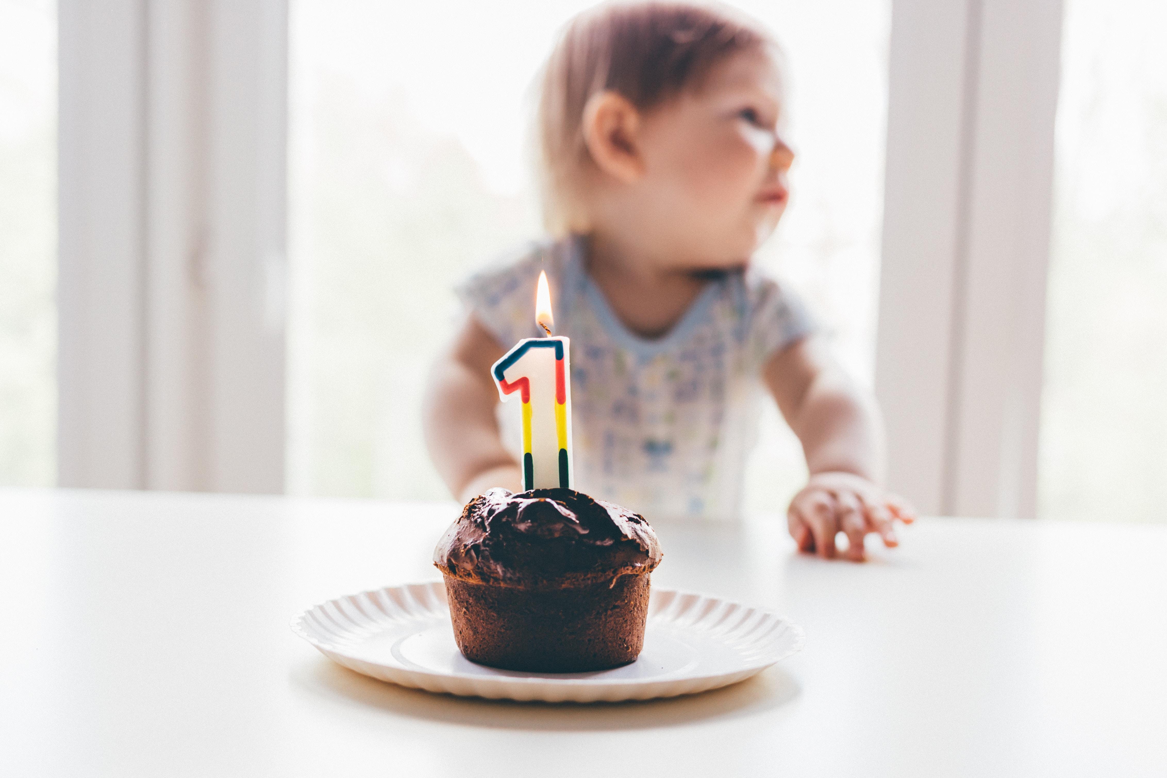 black cupcake