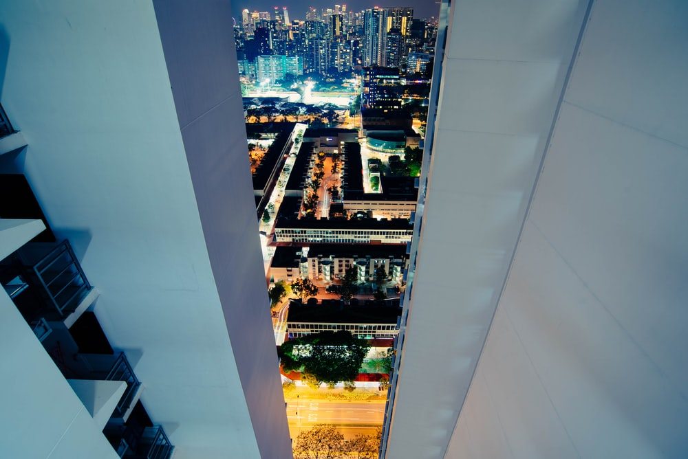 high angle photography of city buildings