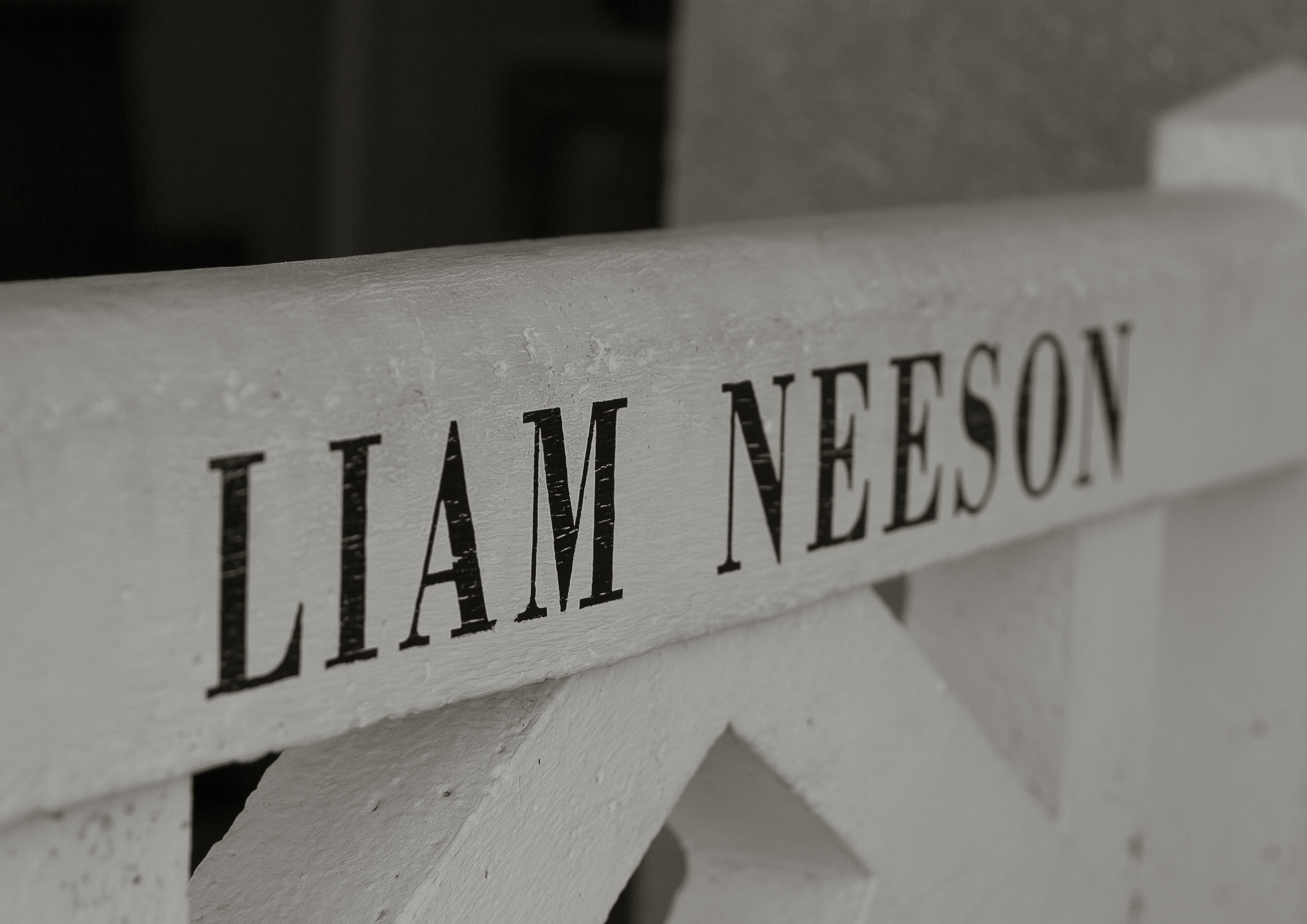 Liam Neeson-printed post