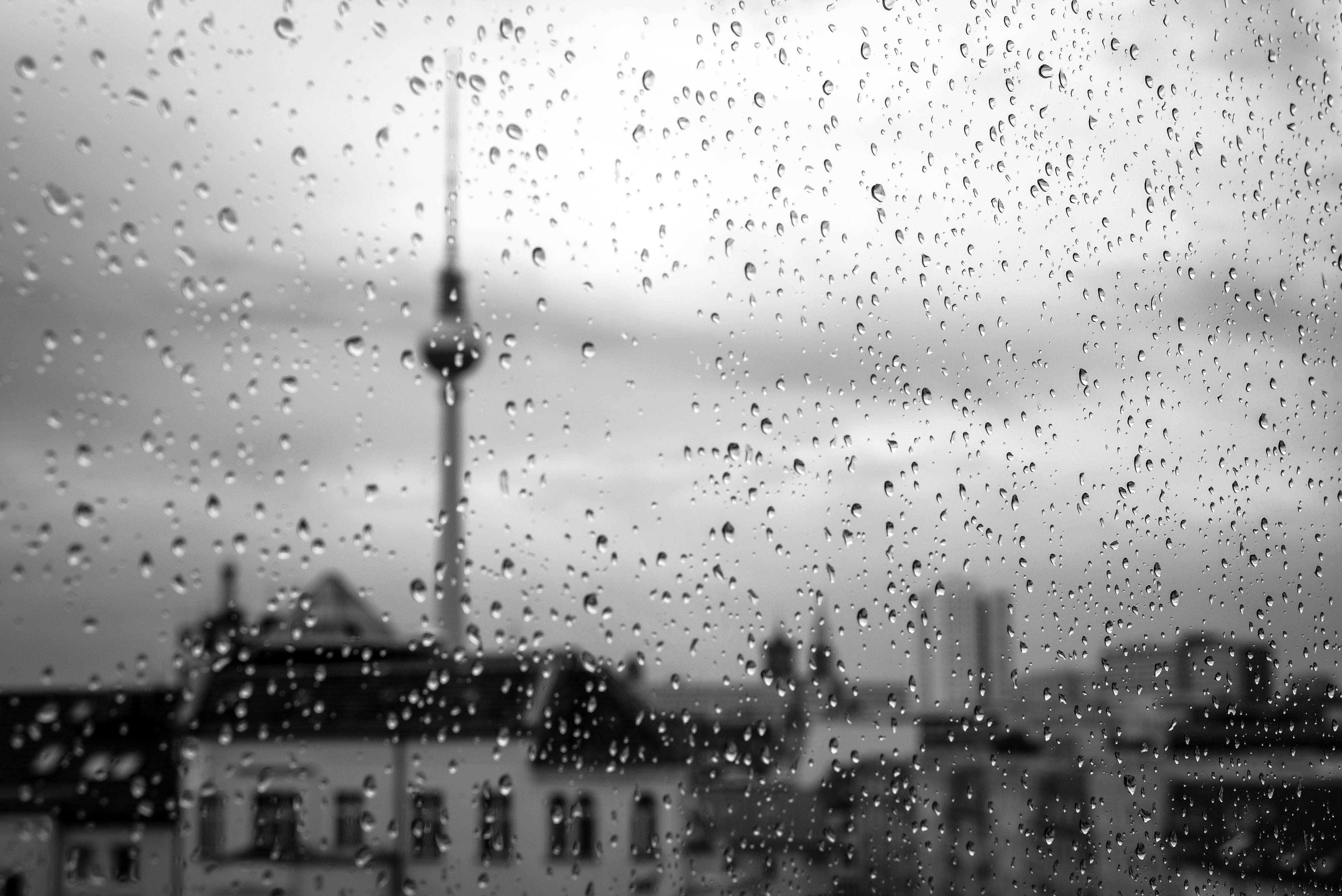 water drops on clear glass window