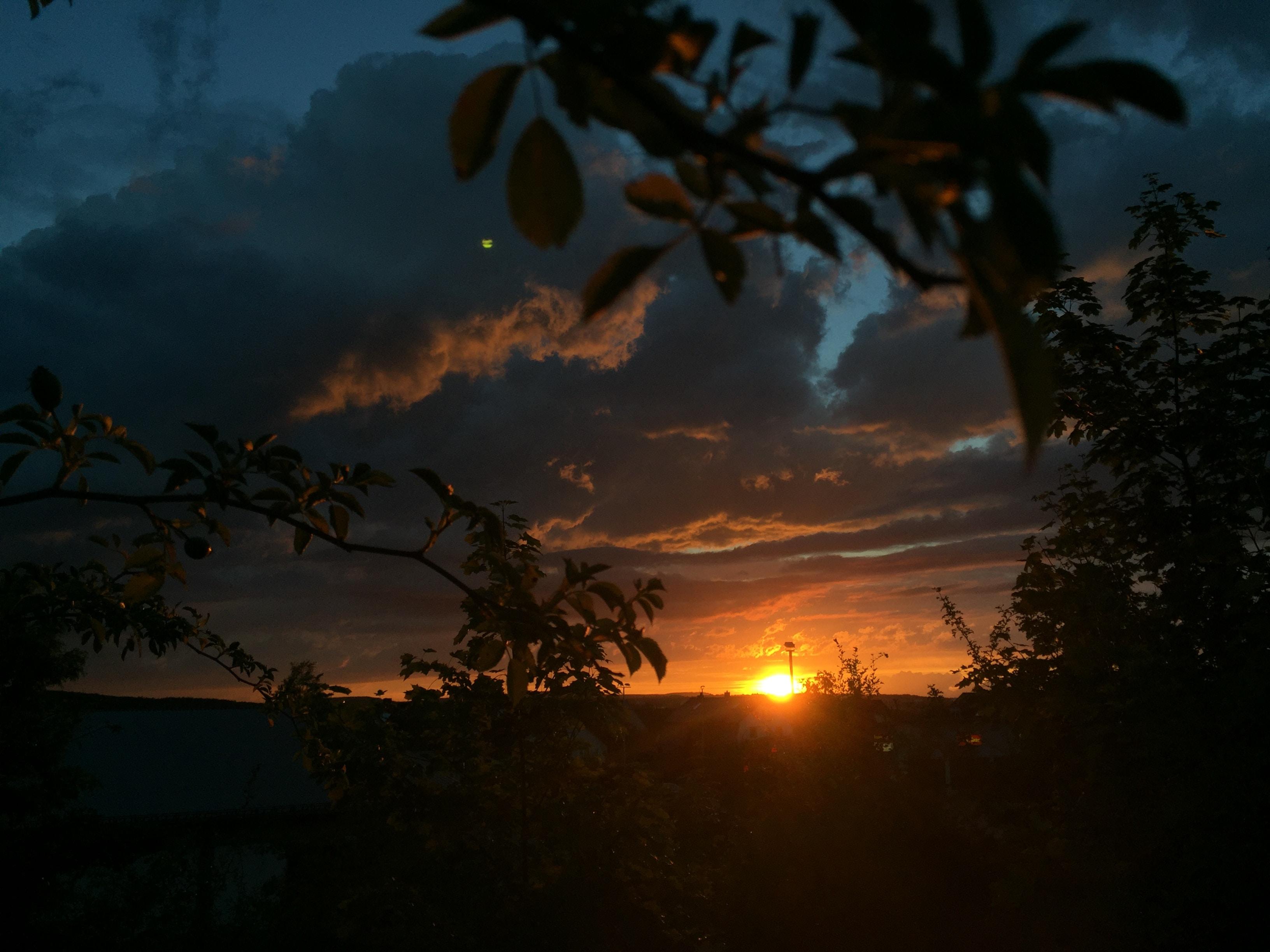 landscape photography of orange sunset