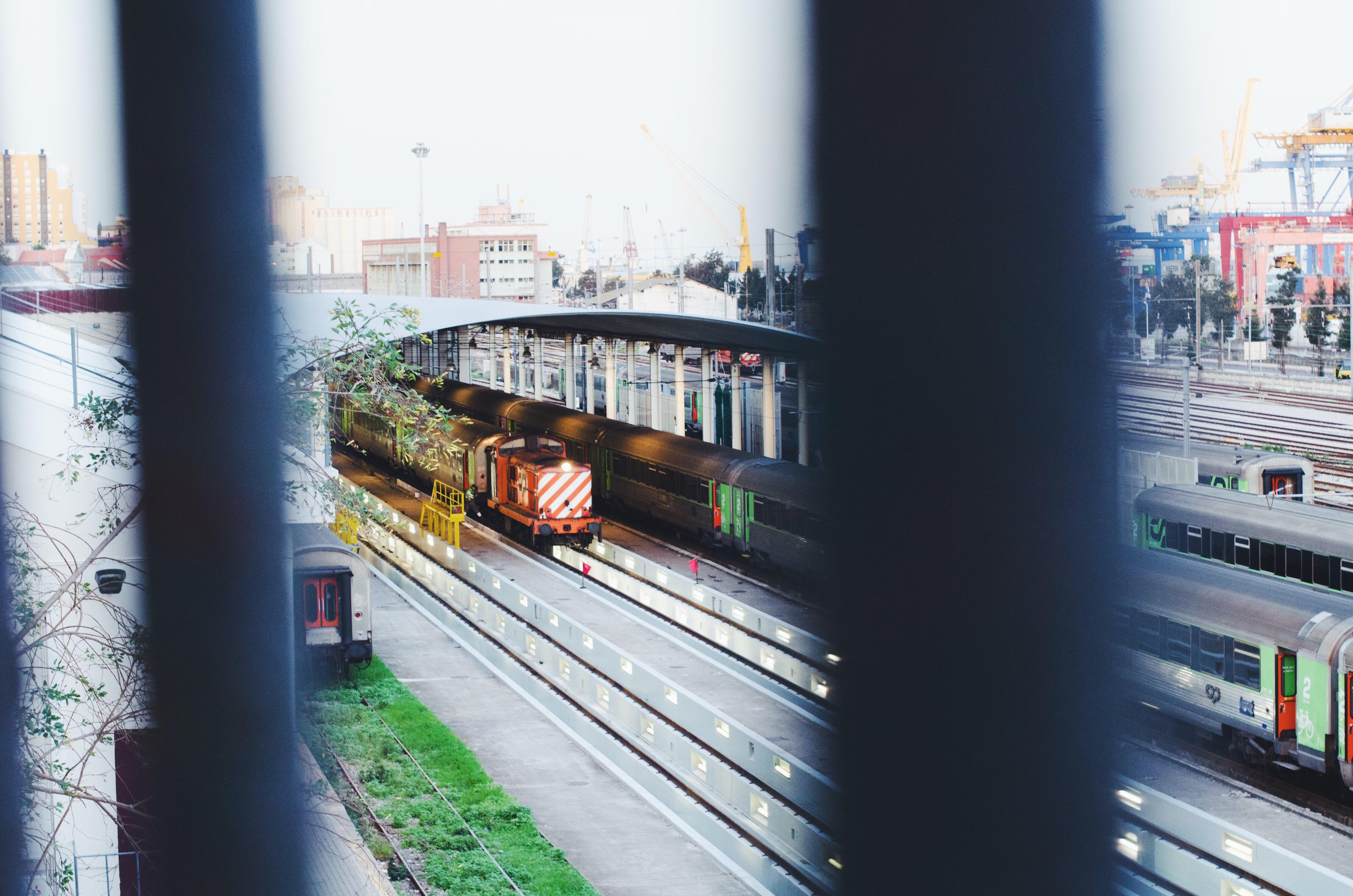 gray tramway photography