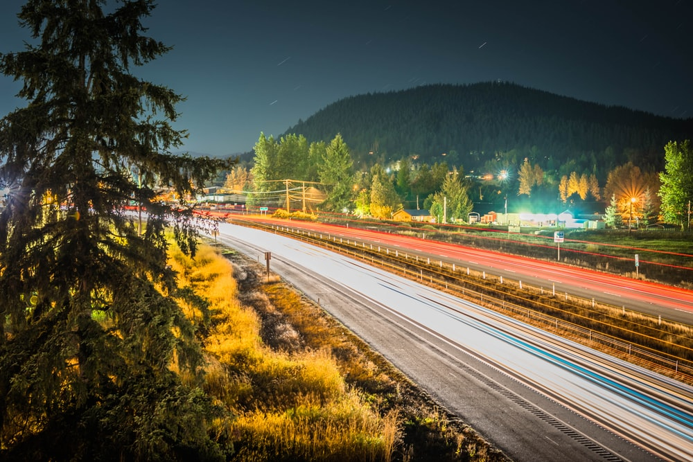 time-lapse photography of a road