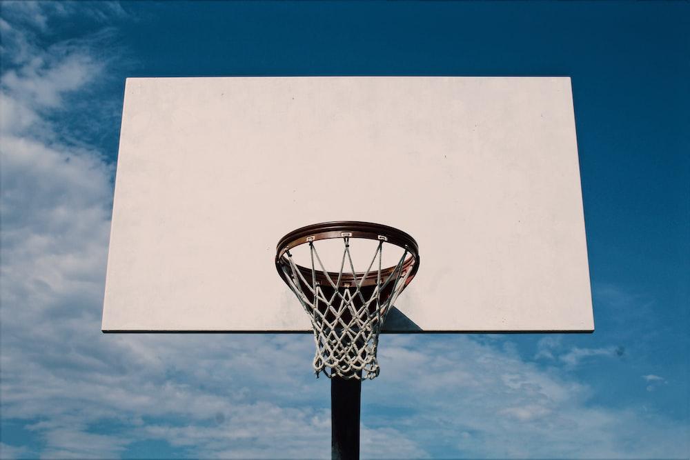 white basketball hoop