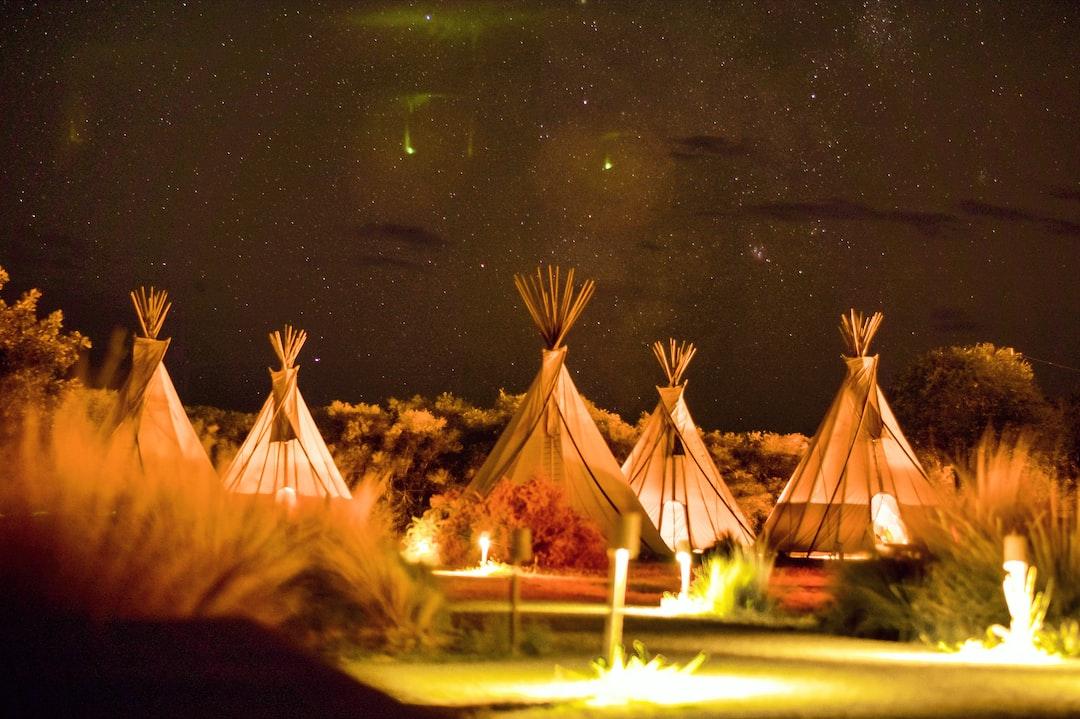 Under a starry night at El Cosmico in Marfa Texas