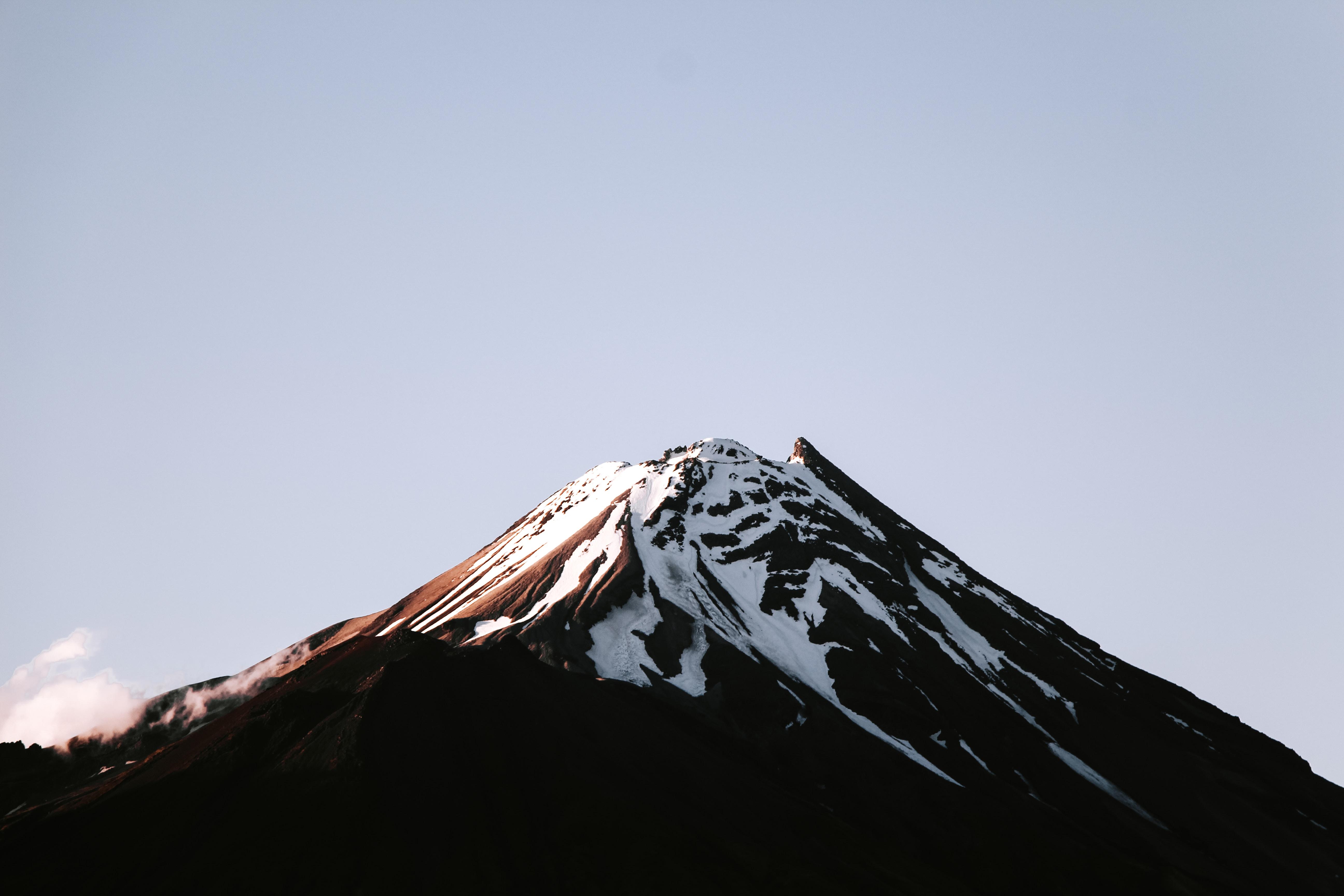 mountain alp under clear sky