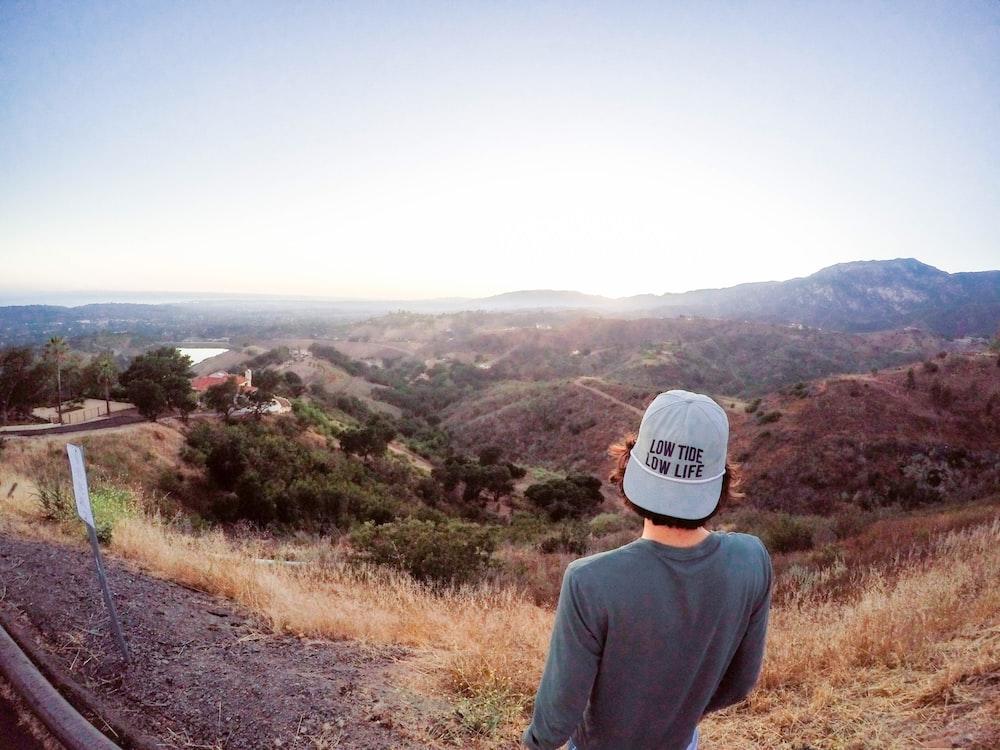 man looking on mountain