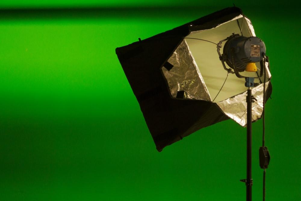 black and gray studio light