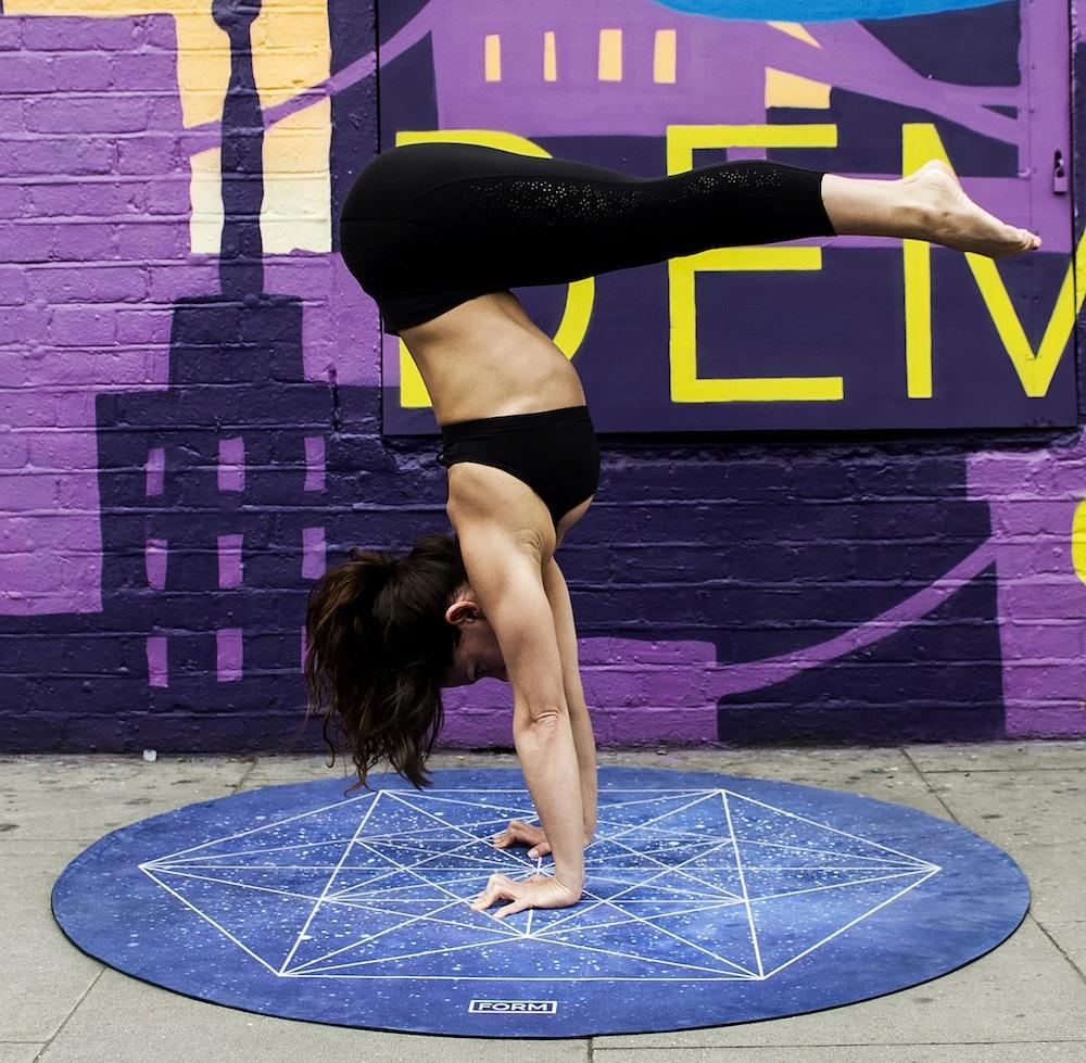woman doing yoga poses