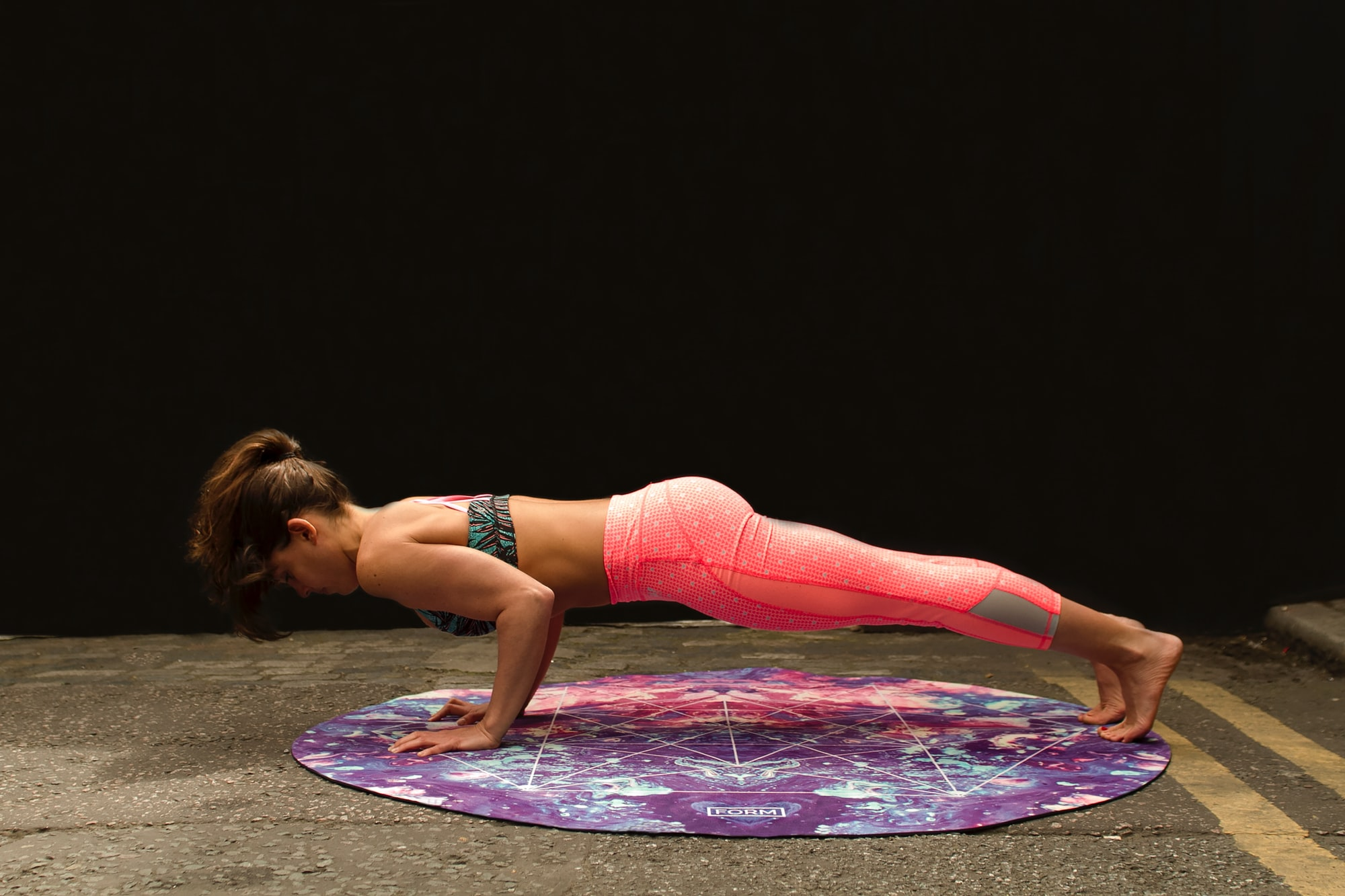 Plank on Radiance Form yoga mat