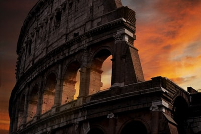 photo of colosseum during golden hour rome zoom background