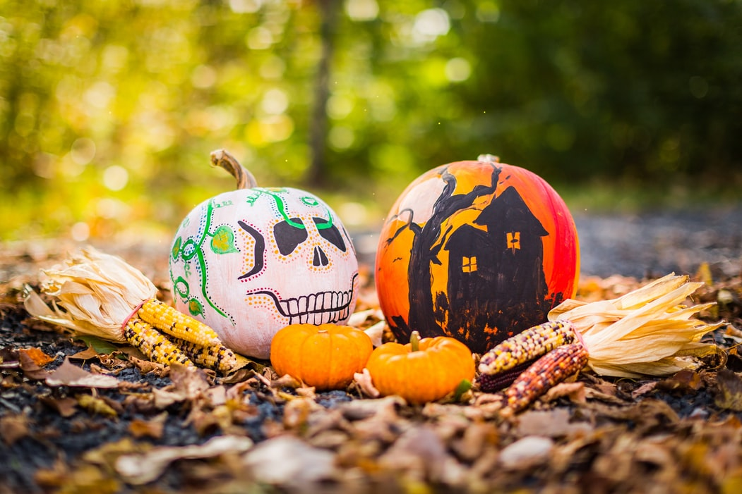 DIY No Carve Typography Pumpkins | 10 Halloween Decorations You Need In Your Life at https://youresopretty.com/halloween-decorations/