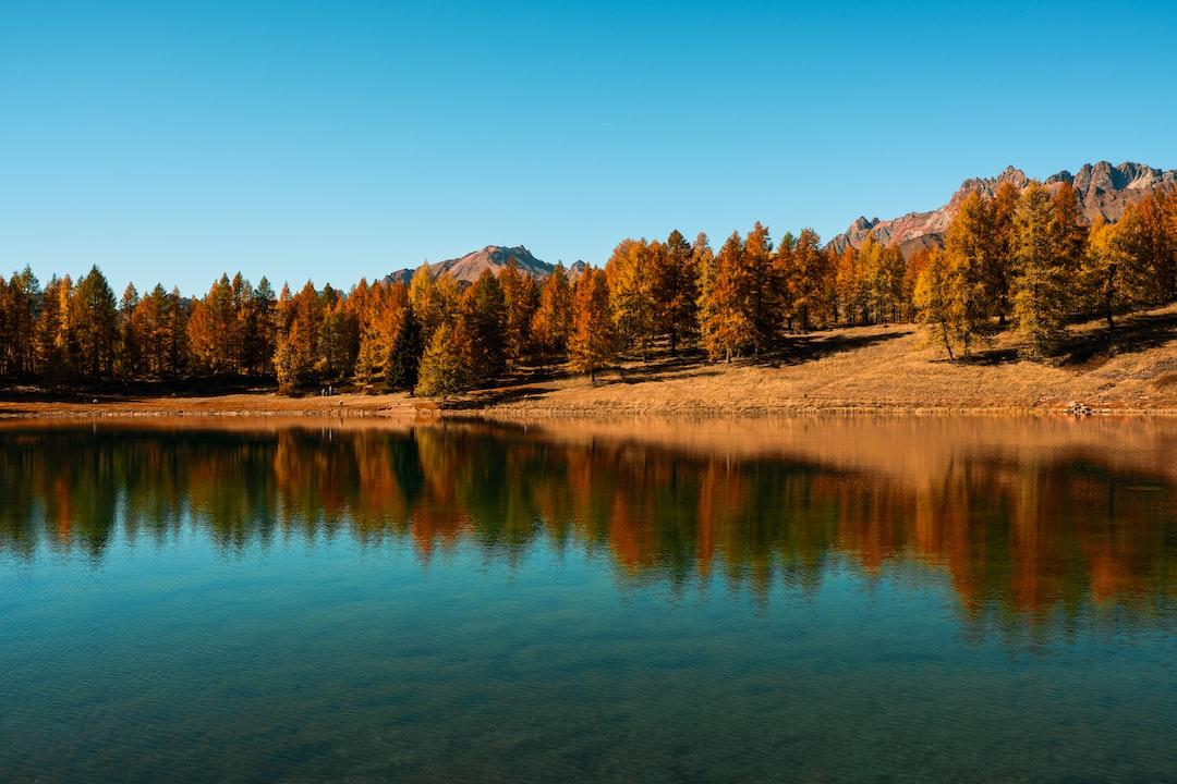 Lod Lake . Chamois . Italy